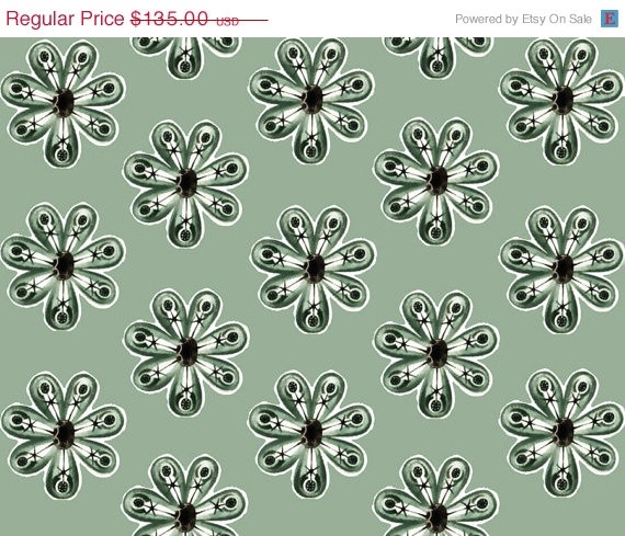 ON SALE Removable Wallpaper green medallion decor eco friendly via 570x489