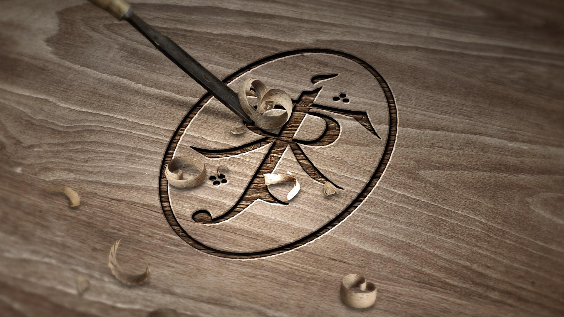 Tolkien Symbol   Carved Wood by dapence 1920x1080