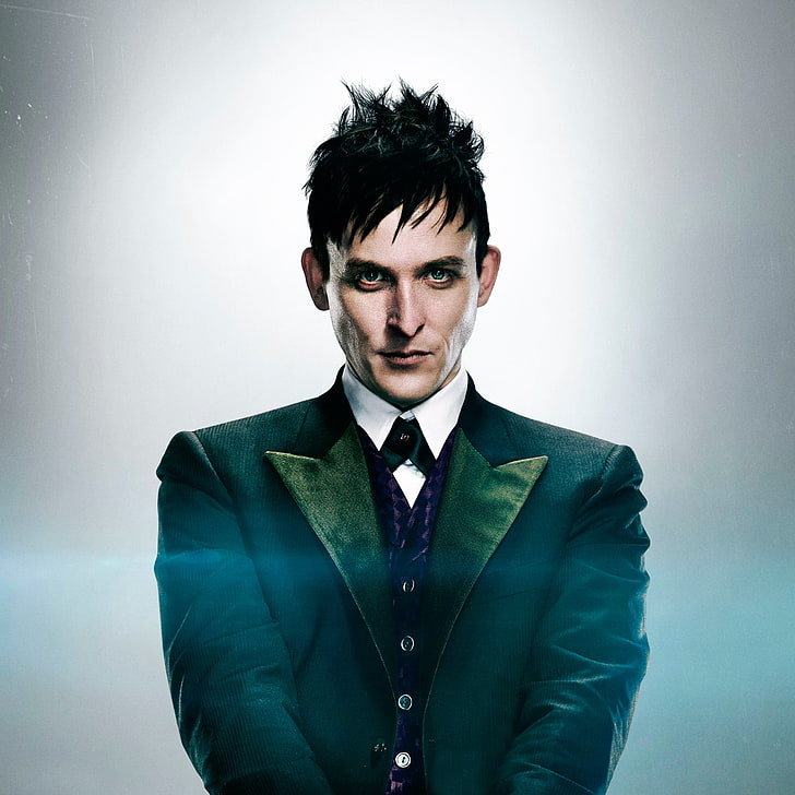 HD wallpaper mens black suit jacket Penguin Gotham Oswald 728x728