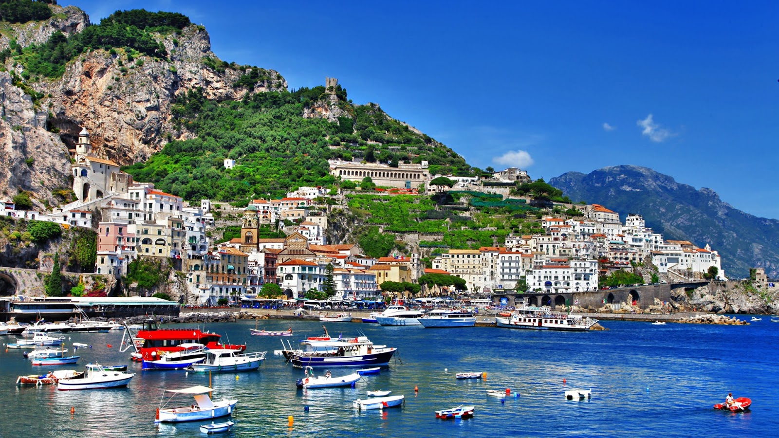 Italy Salerno Full HD Desktop Wallpapers 1080p 1600x900