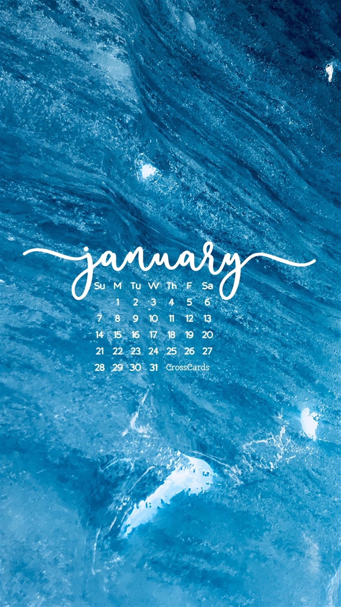 January 2018   Blue   Phone Wallpaper and Mobile Background 1100x1956