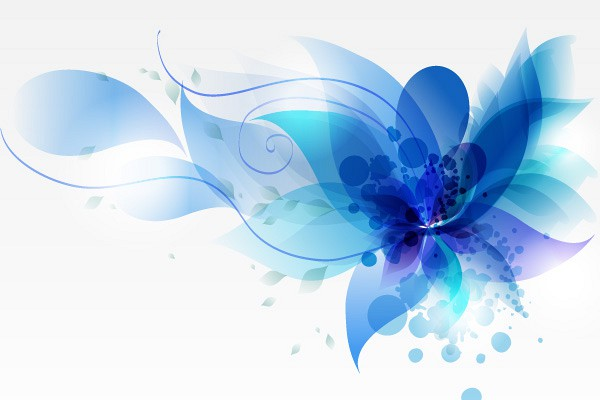 Vector Abstract Blue Abstract Flower Vector Background 600x400
