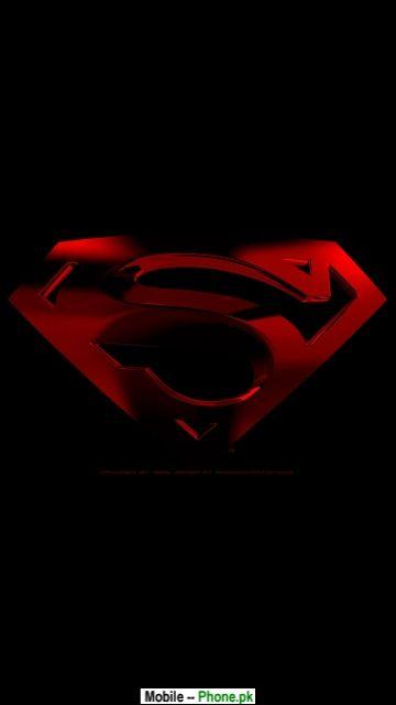dark red superman logo animated mobile wallpaperjpg 360x640