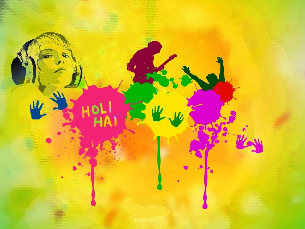 Happy Holi wallpaper 1024x768