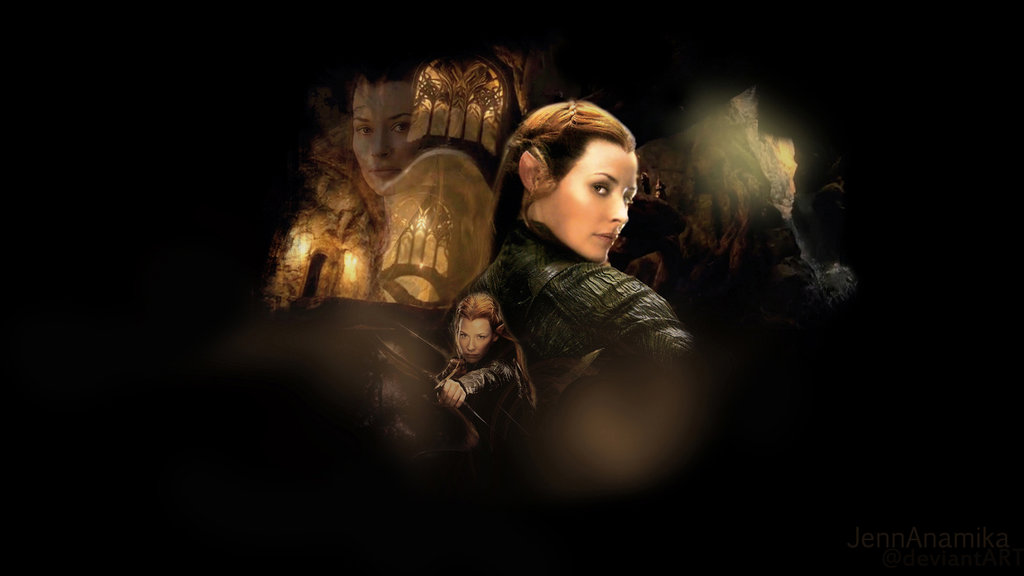 tauriel wallpaper from the hobbit by jennanamika 1024x576