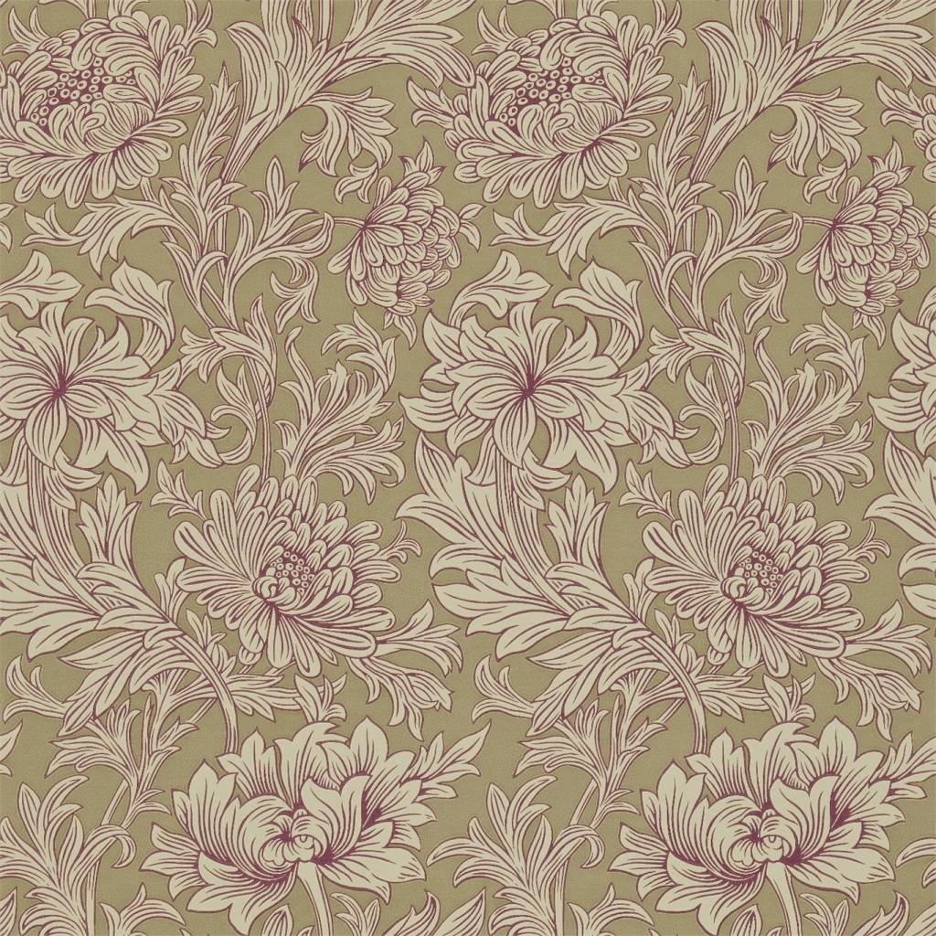 Chrysanthemum Toile GrapeBronze DMOWCH102   De Mooiste Muren 1024x1024