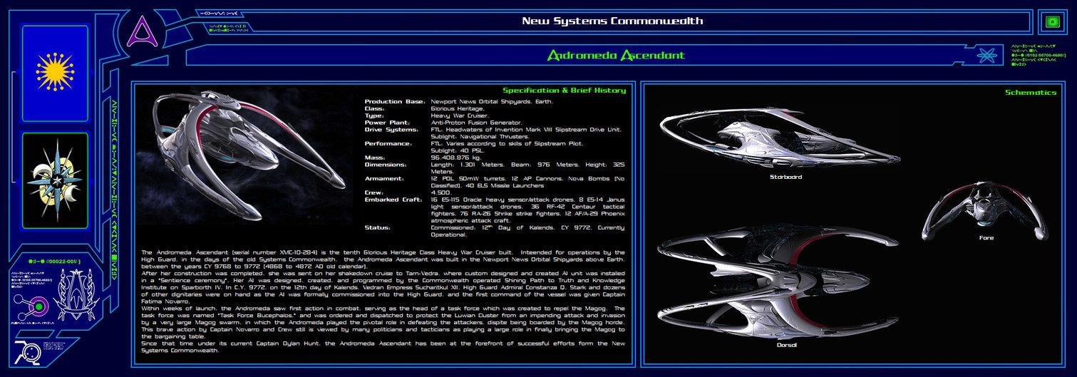 Andromeda Ascendant Wallpaper on Spaceship Deck Plans