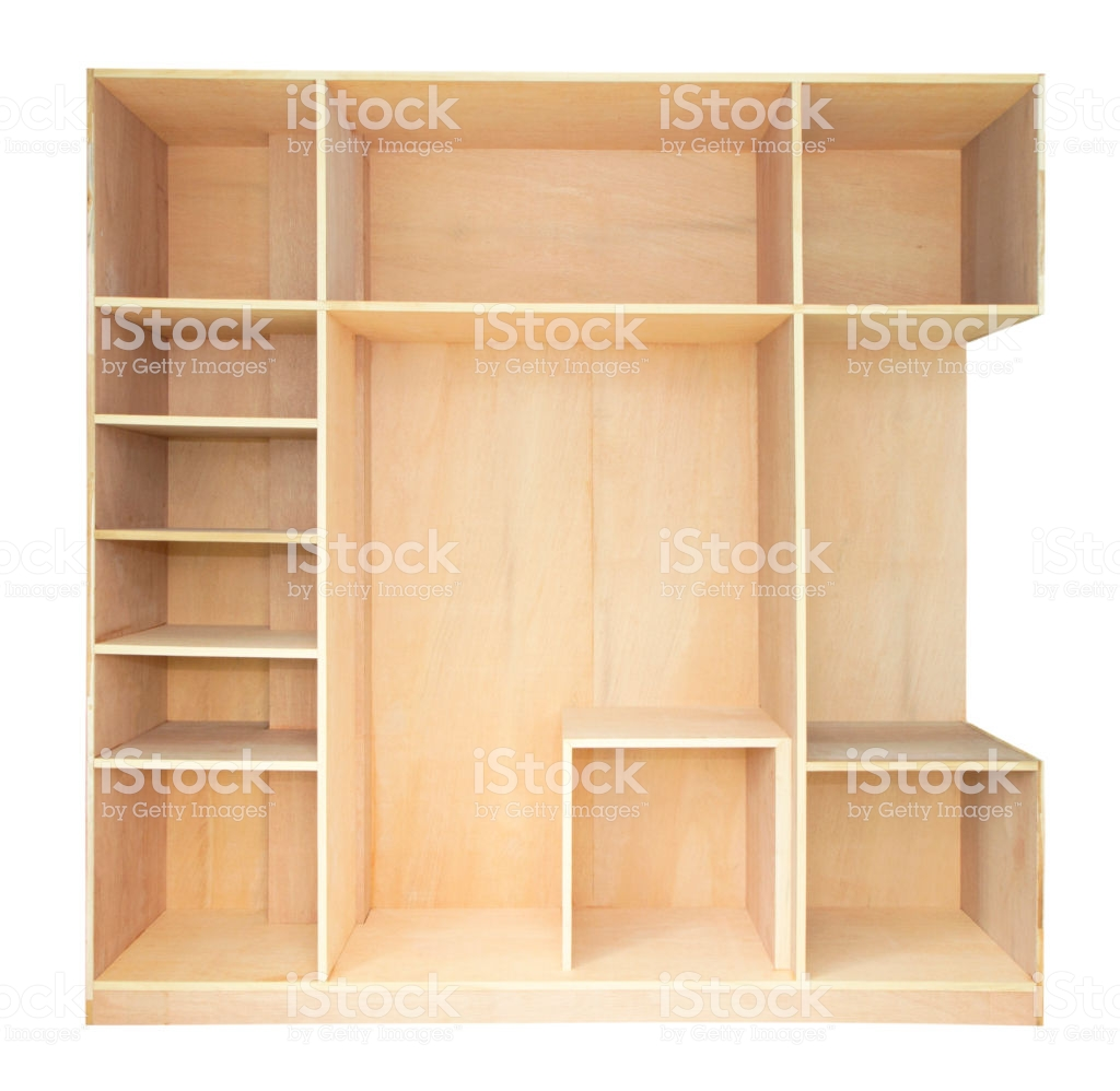 Empty Wooden Cupboard Isolated On White Background Stock Photo 1024x998