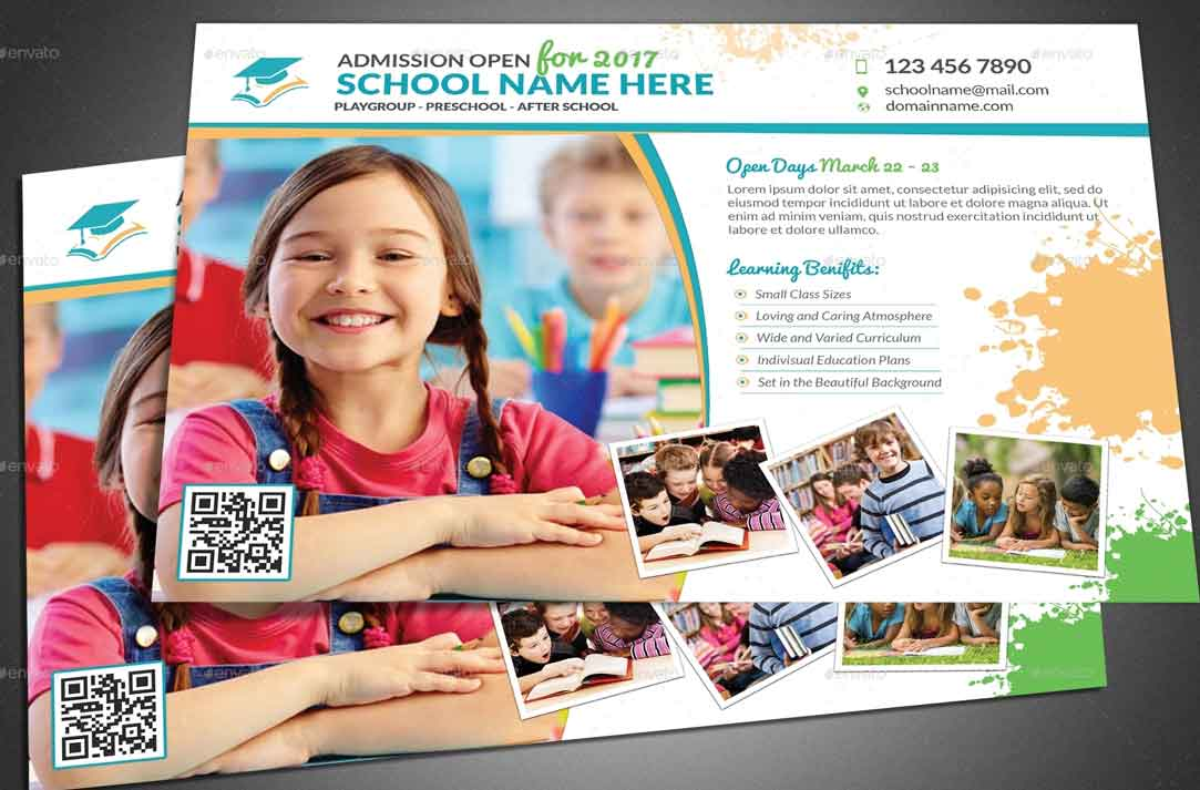 30 Best School Flyer Print Templates 2019 Fripin 1083x713