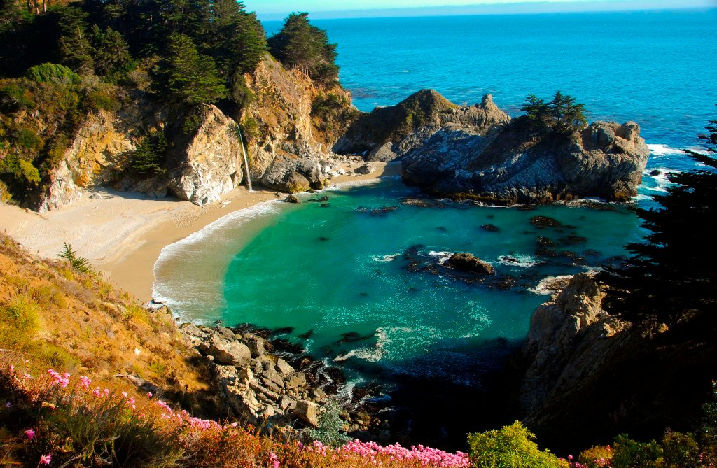 Big Surs Famous McWay Falls and Driving Down Highway 1   the 1024x669