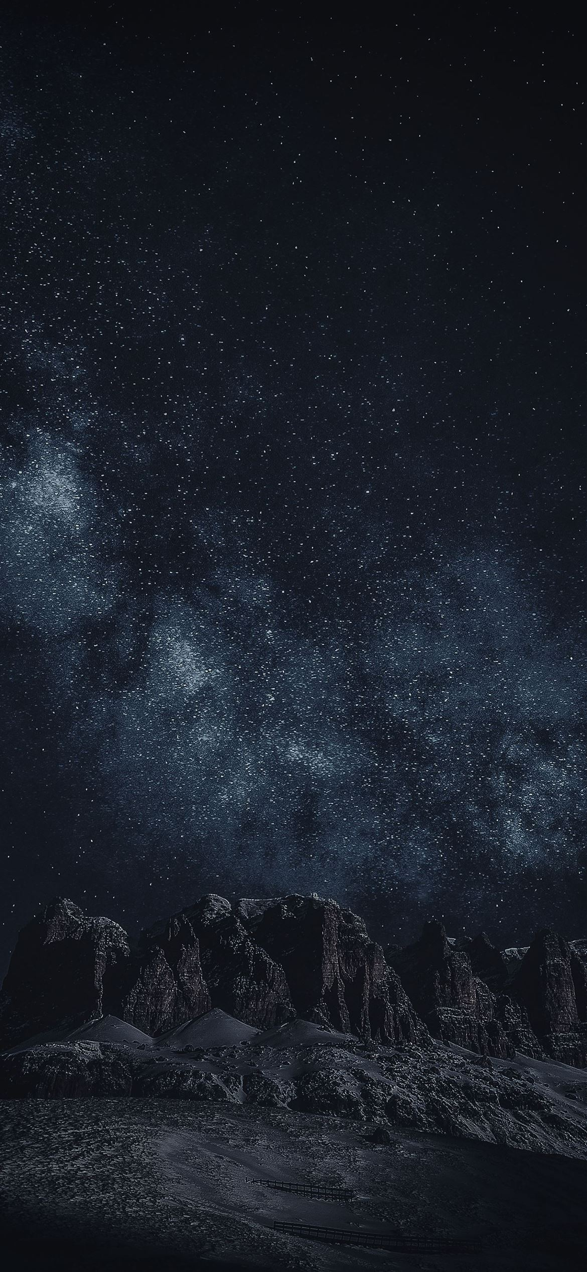 black rock formation during night time iPhone 12 Wallpapers 1170x2532