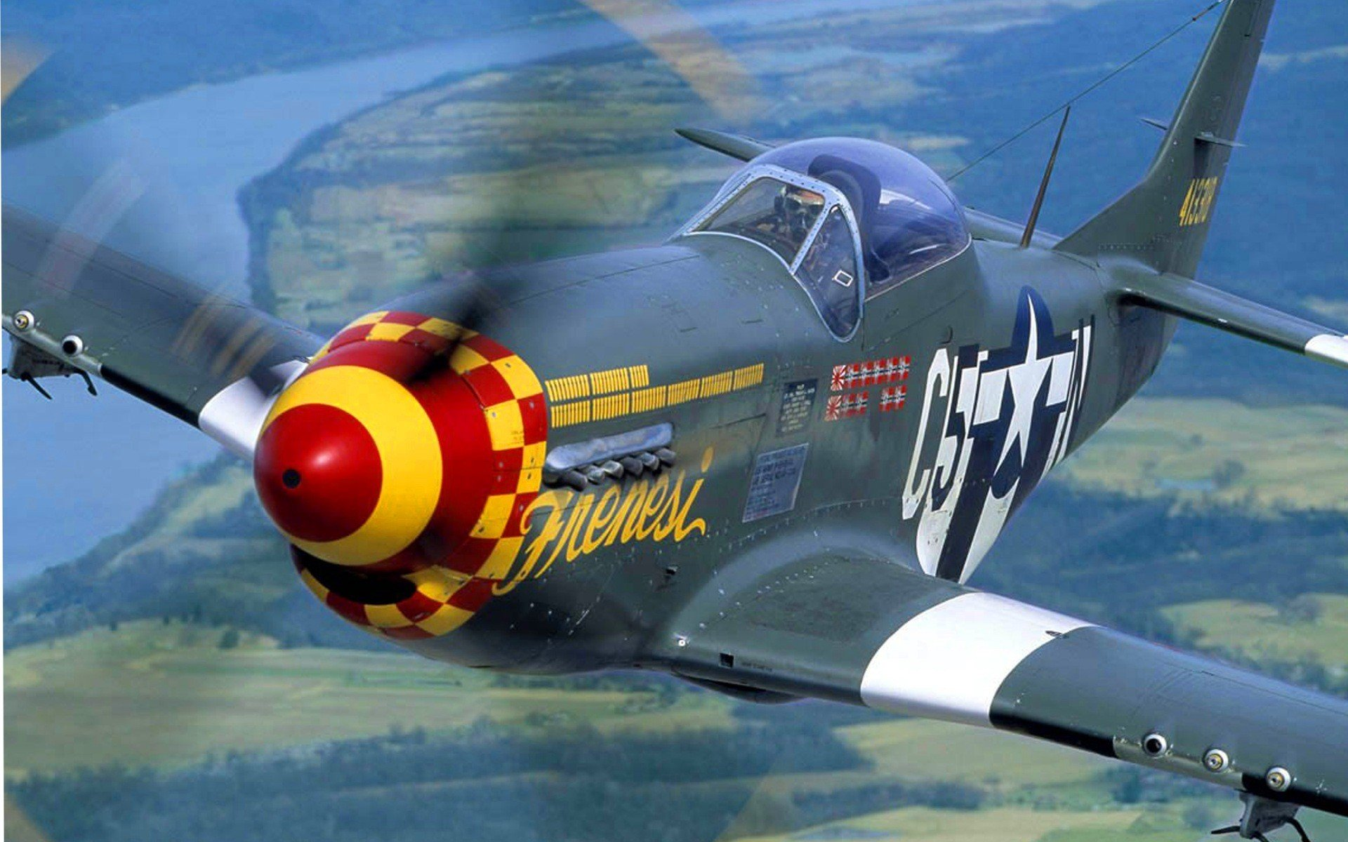 aircraft P 51 Mustang wallpaper background 1920x1200