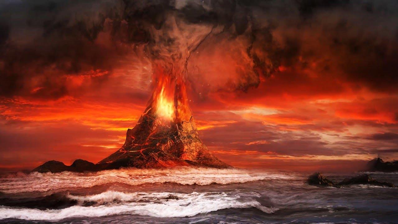 Live Fire Volcano Eruption Video Background Effect 1280x720