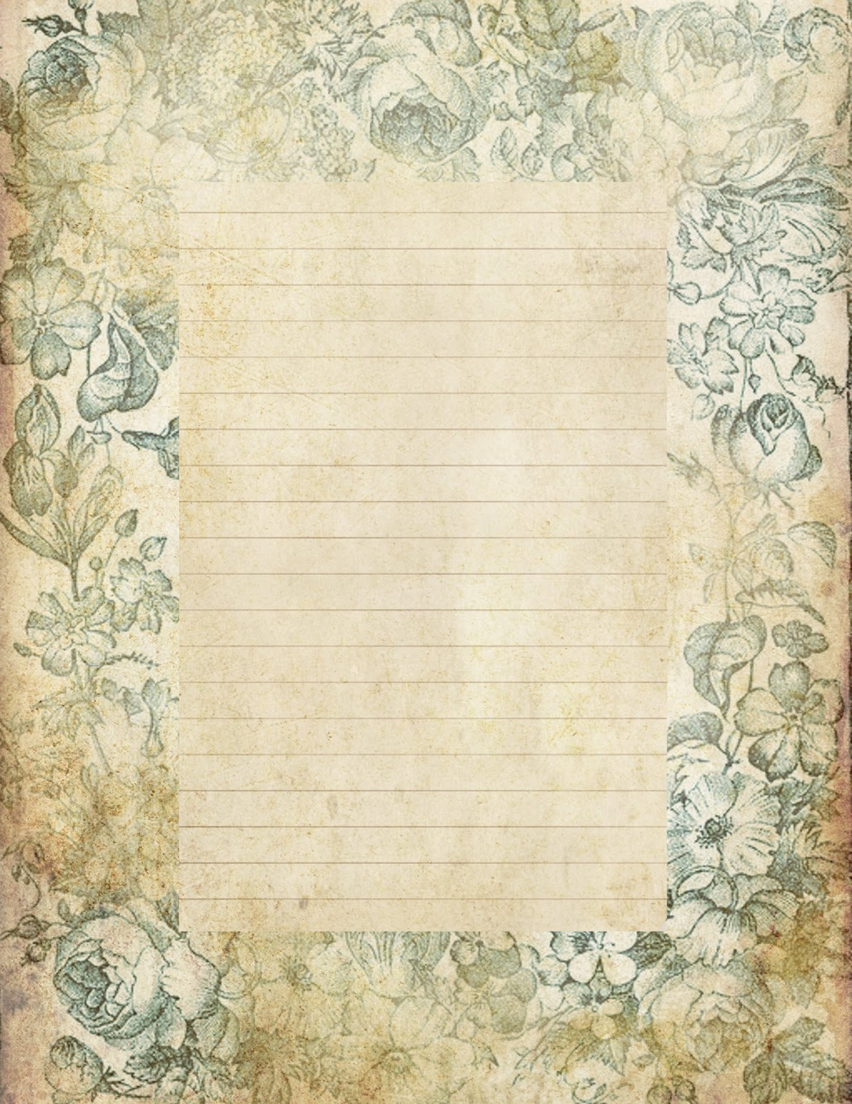 Lilac Lavender Antiqued lined paper Stationery 1236x1600