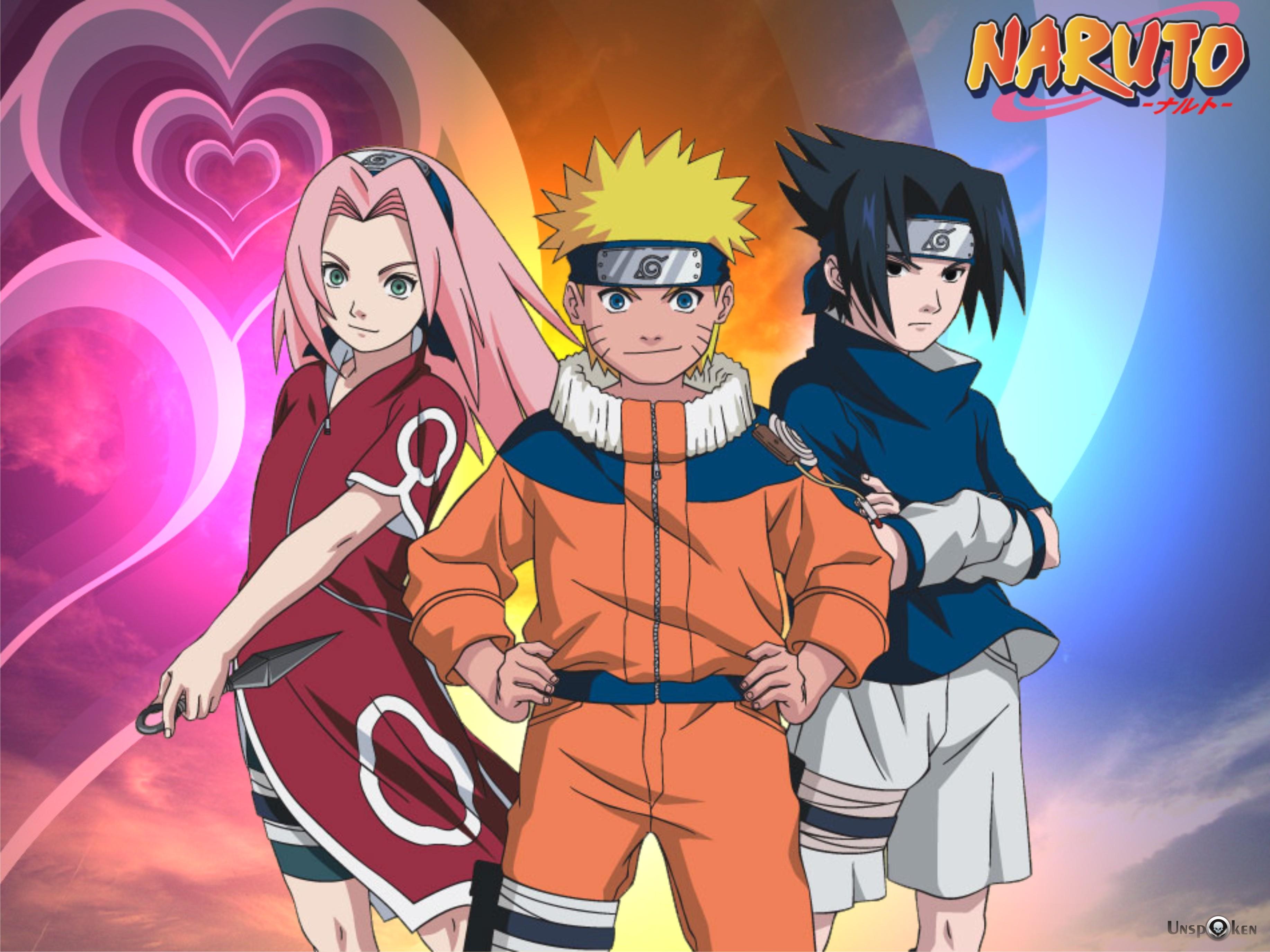 Naruto Sasuke Sakura Wallpaper - WallpaperSafari Naruto And Sakura And Sasuke