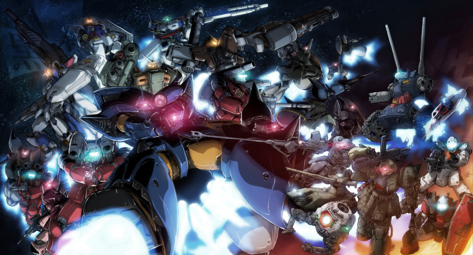 Awesome Gundam Wallpaper   Gundam Kits Collection News and Reviews 1586x857