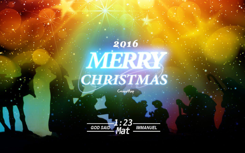Merry Christmas Christian Illustrations Crossmap Christian 1440x900
