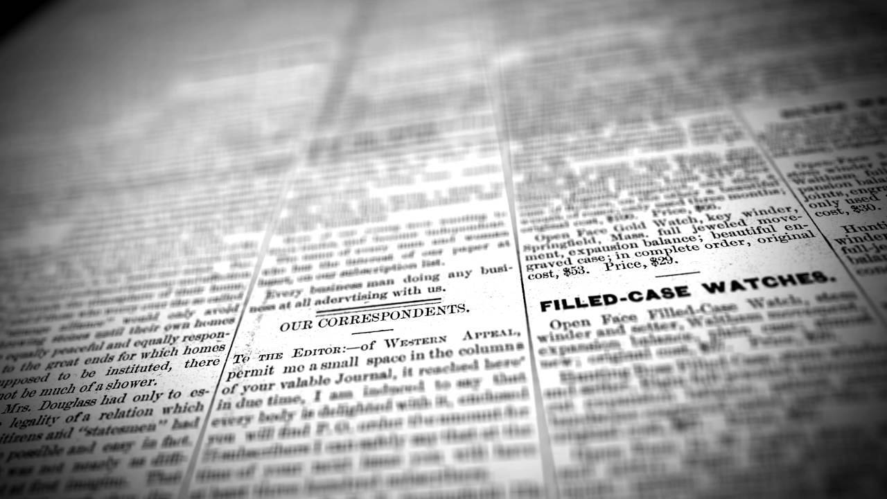 Old Newspaper 4K   Stock Footage Background 1280x720