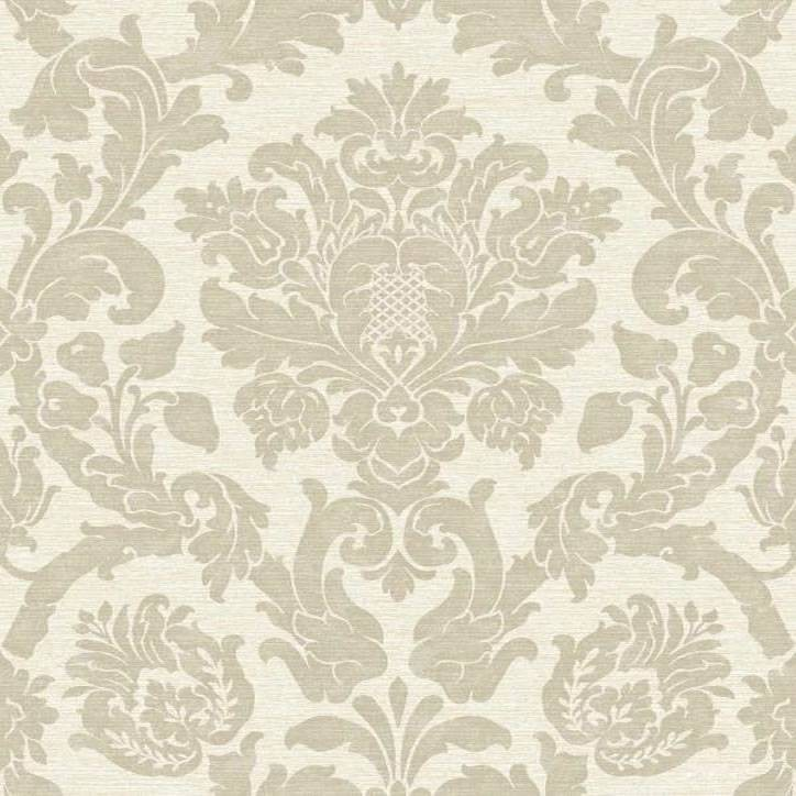 Beige   Glitter   V416 04   Kensington Damask   Ideco Wallpaper 724x724