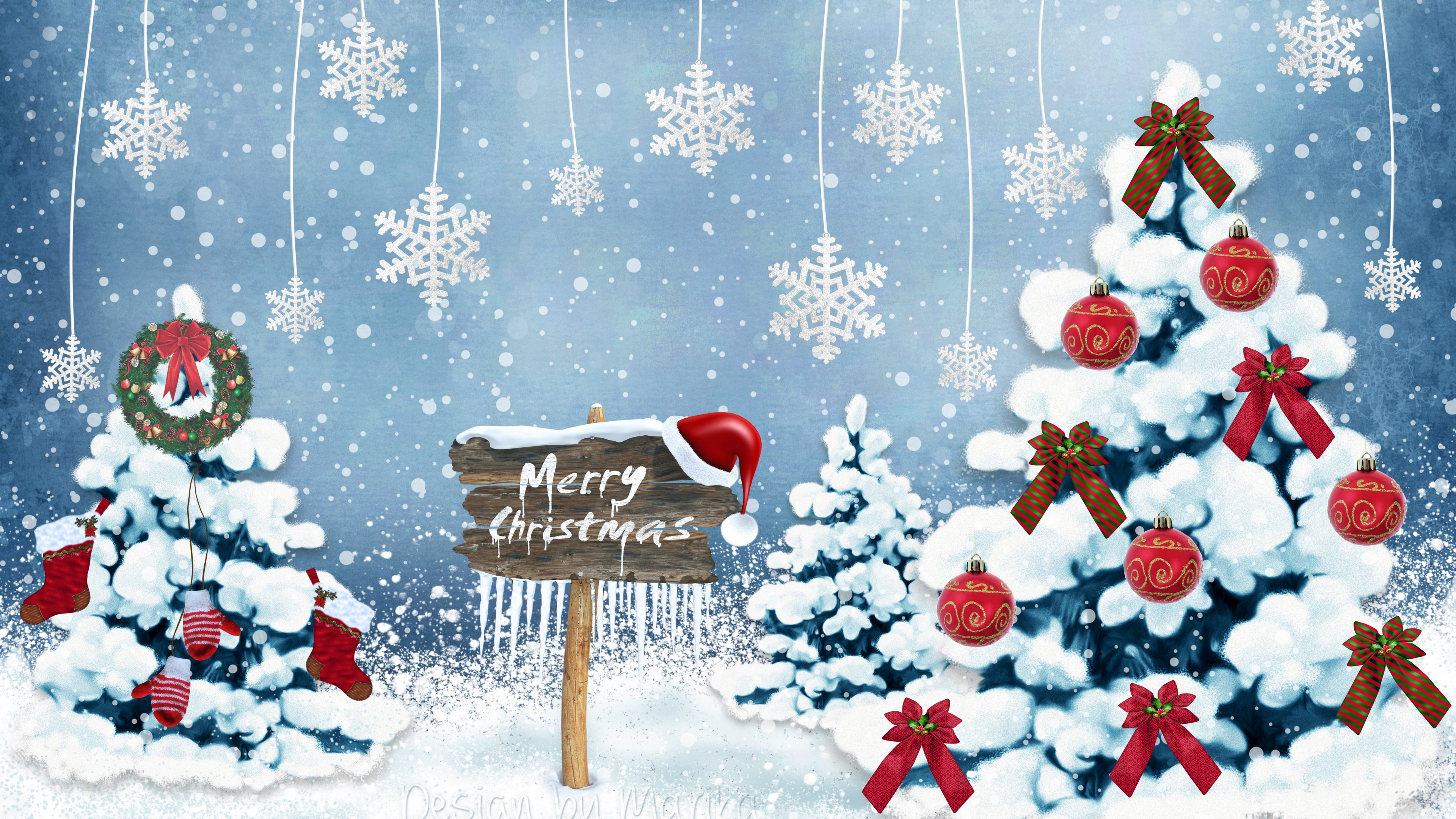 Merry Christmas Hd Wallpaper For Download   Merry Christmas 2560x1600
