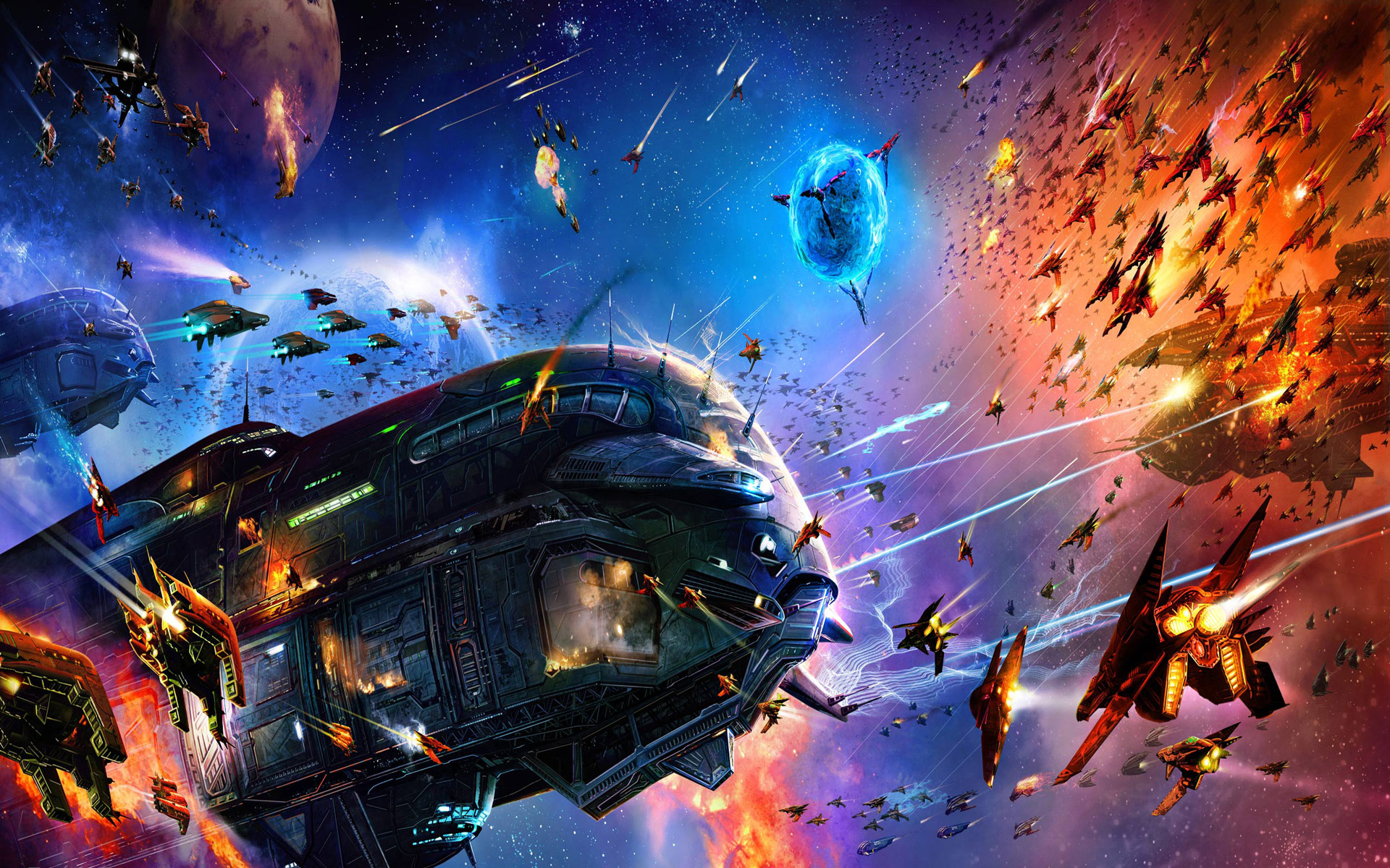 desktop wallpaper of sci fi space war computer desktop 1920x1200
