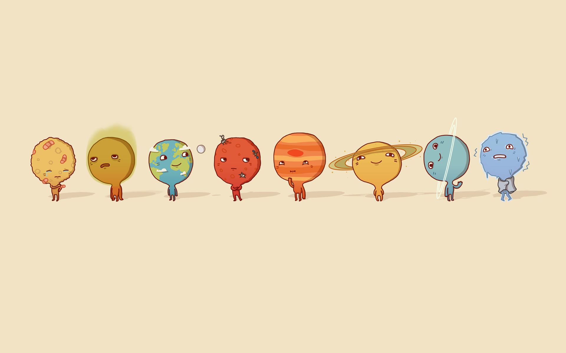 Eight Planets Cartoon 1920x1200 830 HD Wallpaper Res 1920x1200 1920x1200