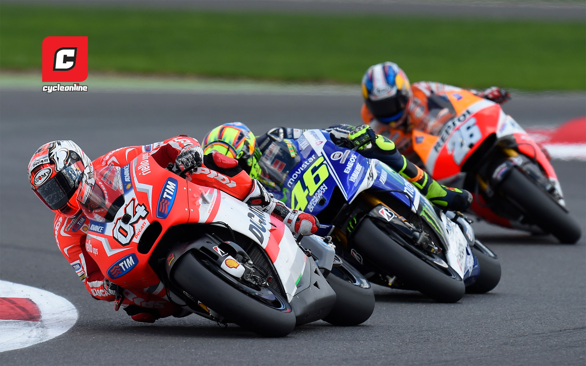 Wednesday Wallpaper Dovizioso Rossi and Pedrosa   CycleOnlinecomau 1920x1200