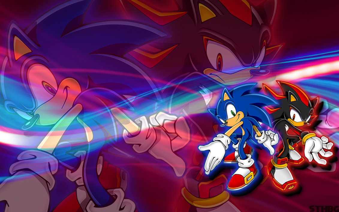 Sonic And Shado Super Iphone Wallpaper