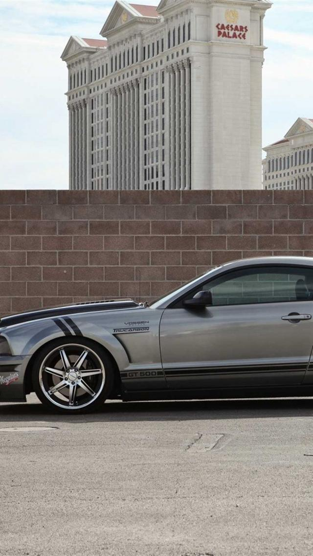 Grey Ford Mustang iphone 5 wallpapers downloads 640x1136