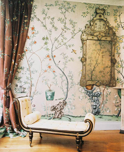 hand painted wall paper 408x500