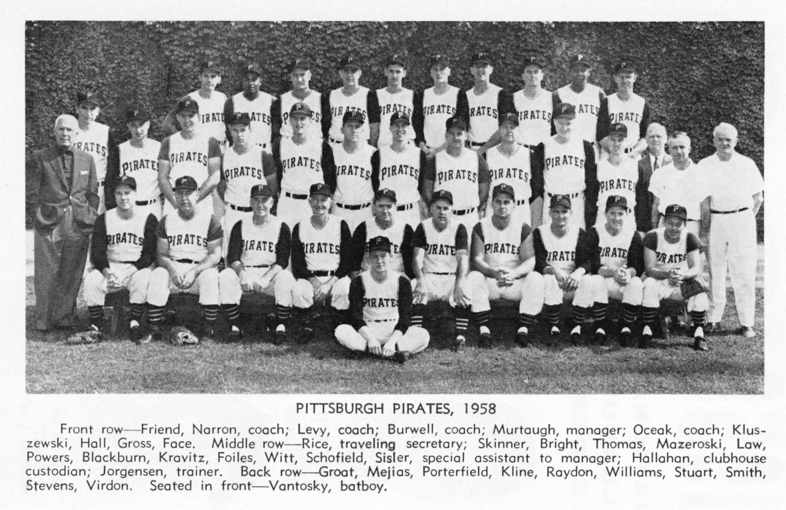 1958 PITTSBURGH PIRATES baseball mlb wallpaper background 2536x1646