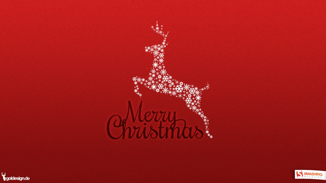 1366x768 Merry Christmas desktop PC and Mac wallpaper 1366x768