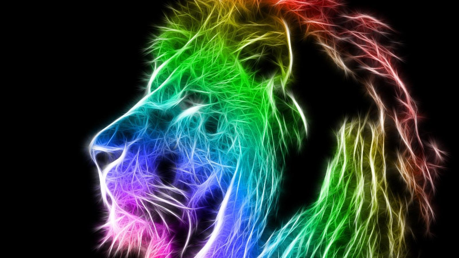 Colorful lion wallpaper 1280x1024 HQ WALLPAPER   44314 1600x900