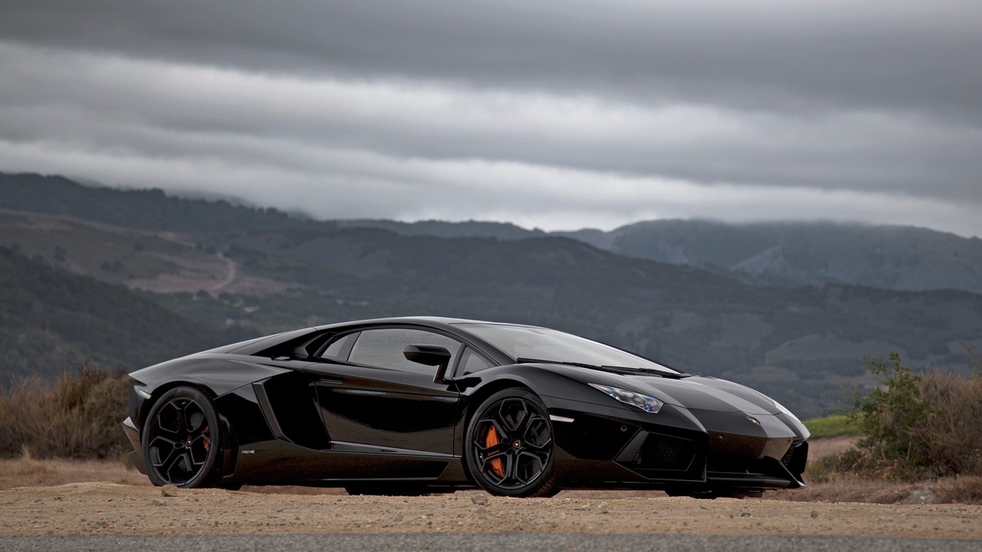 Lamborghini Aventador Black 1080p HD Wallpaper 326 Car   bwalles 1920x1080