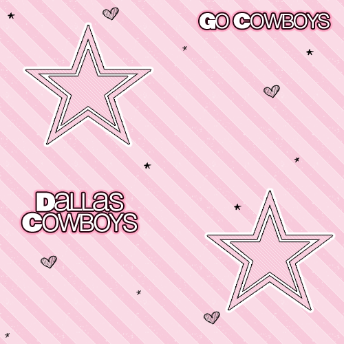 Pink Dallas Cowboys Logo 500x500