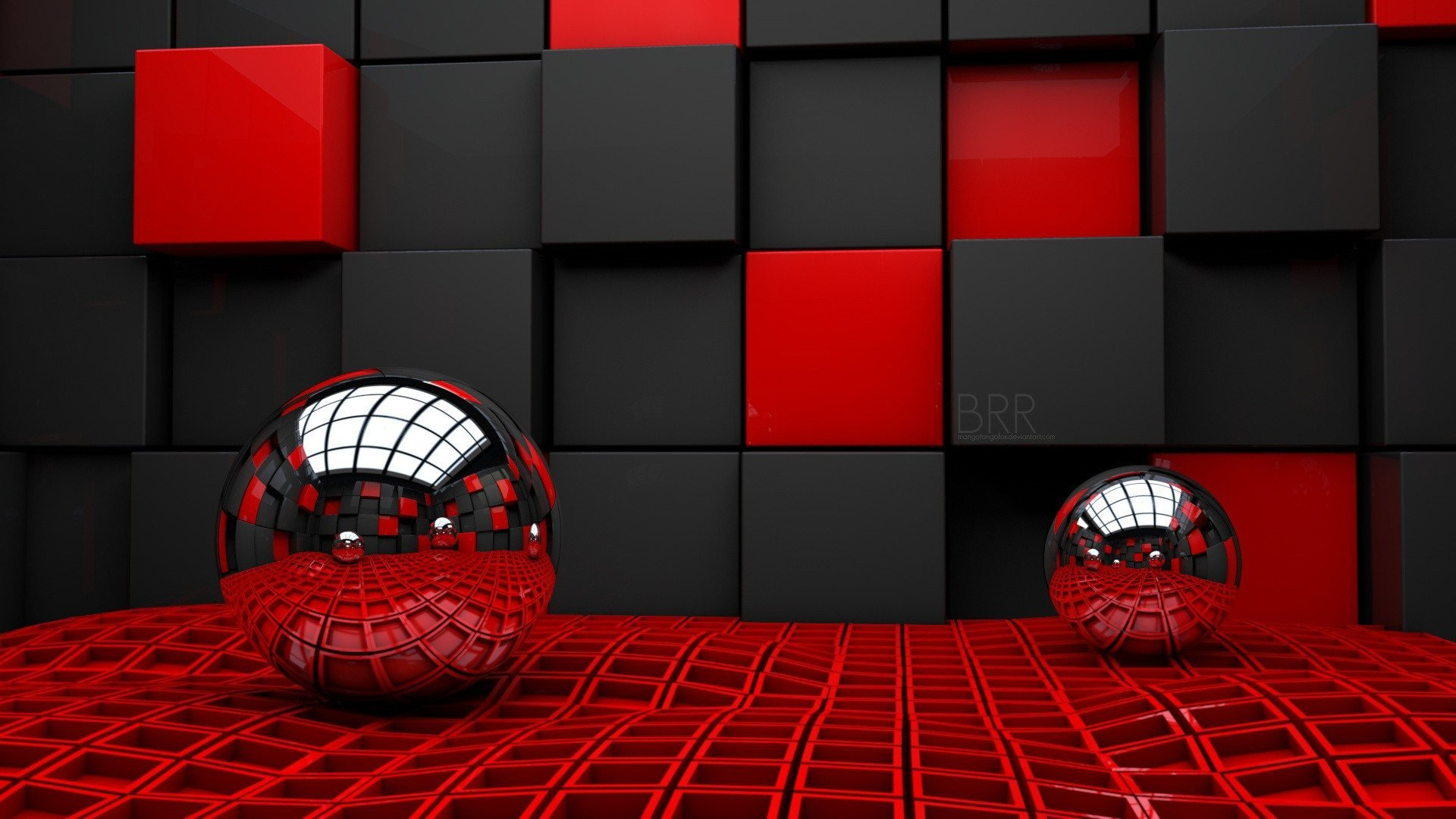 3D Red wallpapers 3D Red background 1920x1080