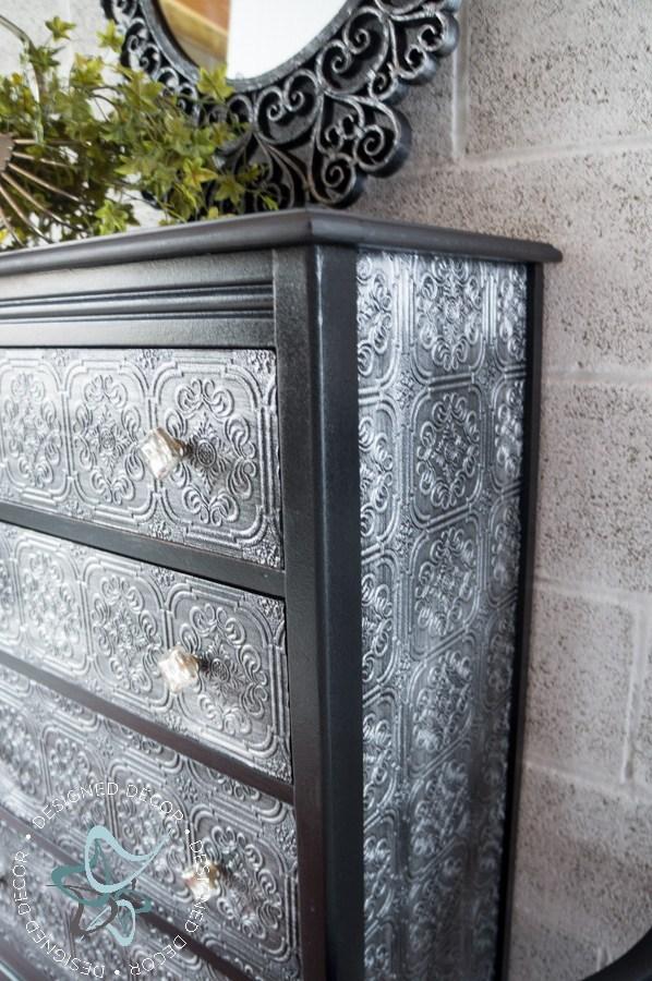Decoupage WallPaper Dresser   Designed Decor 598x900