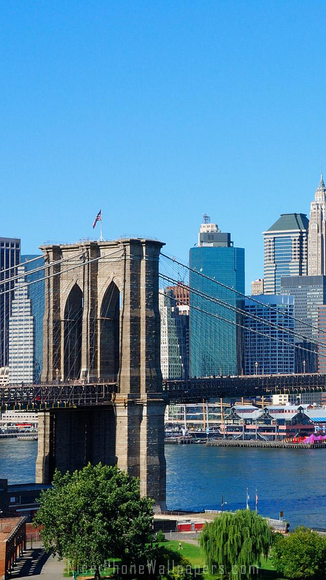 Brooklyn Bridge iPhone wallpaper adjusted for iPhone 55s5c iPhone 640x1136