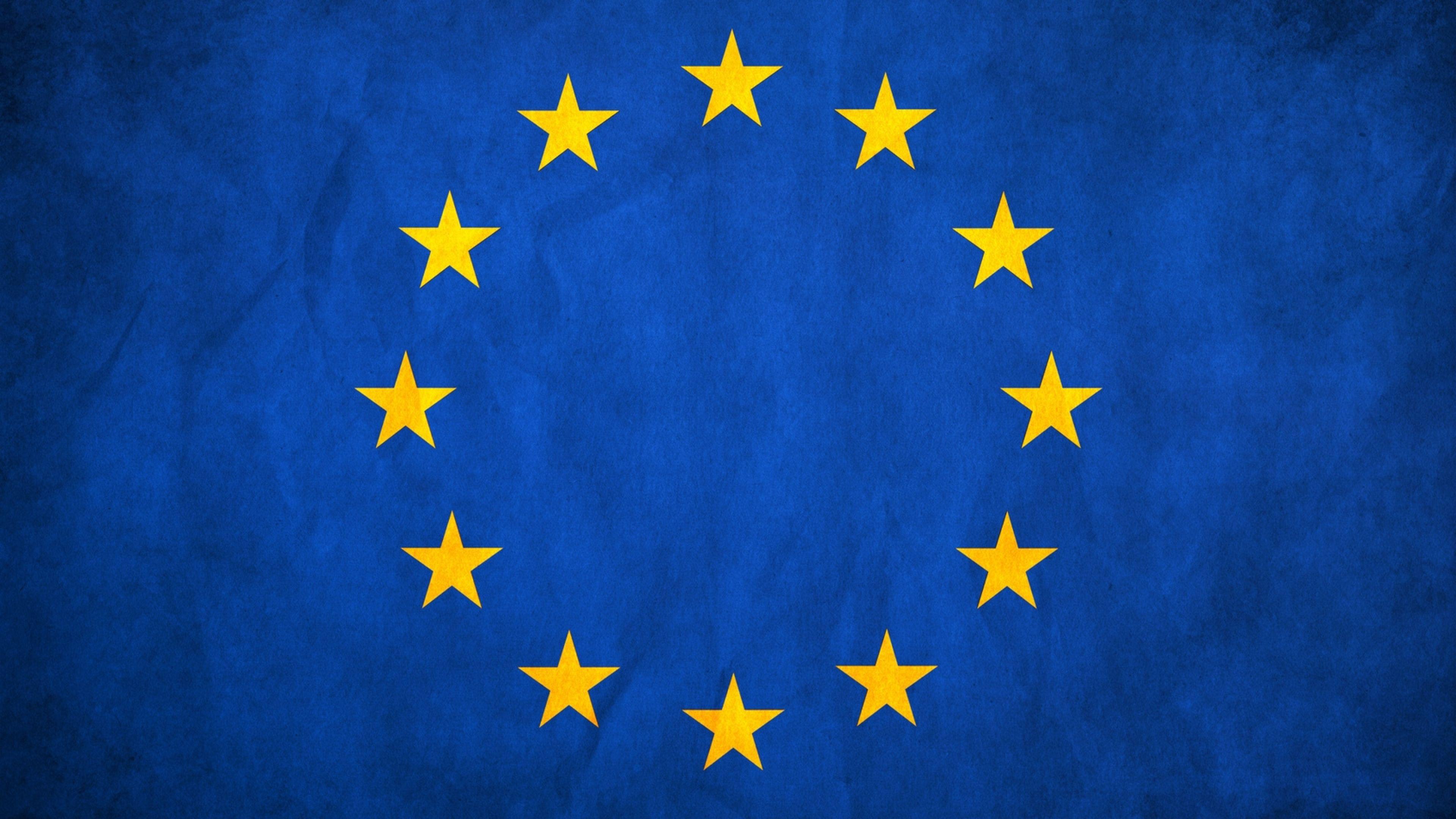 European Union Flag Stars Europe Texture 4k Hd 3840x2160