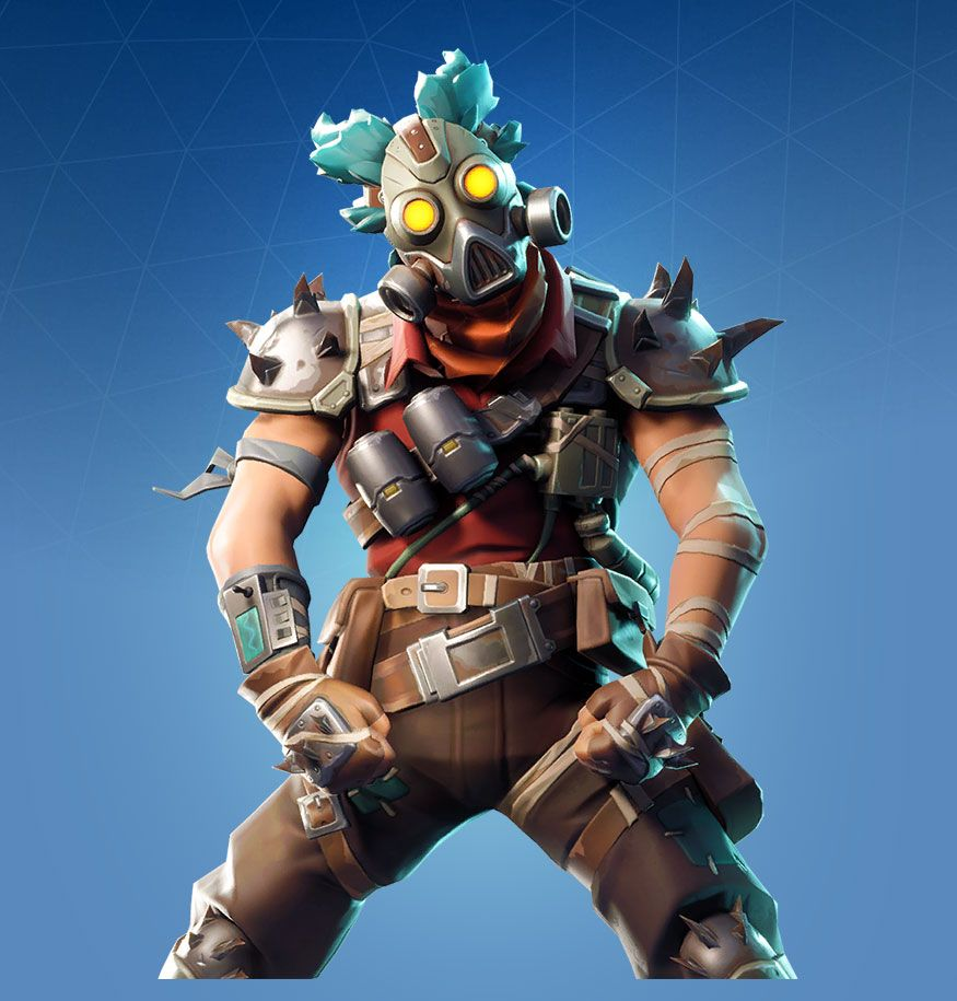 Ruckus is a Rare Fortnite Outfit from the Wasteland Warriors set 875x915