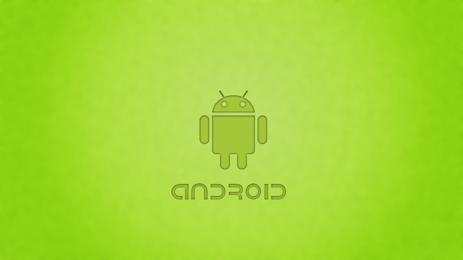 Android achtergrond met groene Android logo HD Android wallpaper 1600x900