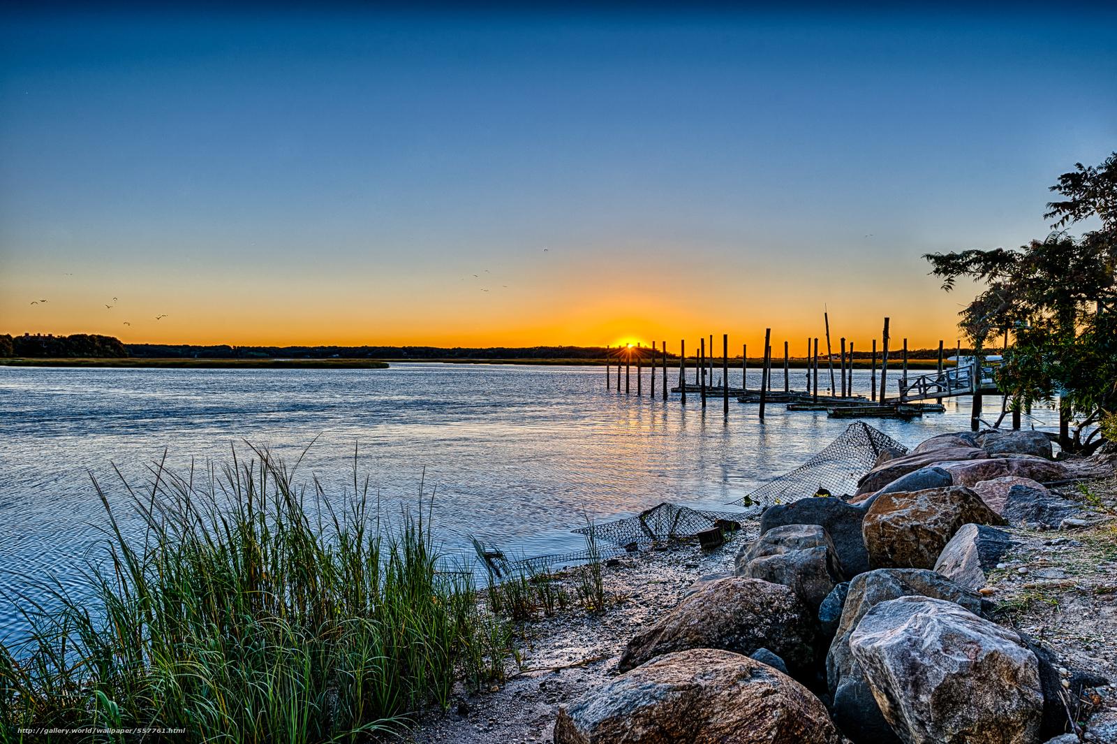 Download wallpaper Stony Brook Harbor   Long Island New York 1600x1065