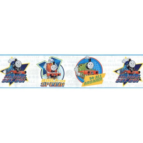 Thomas Tank Train Speed White Wallpaper Border Home Kitchen 500x500