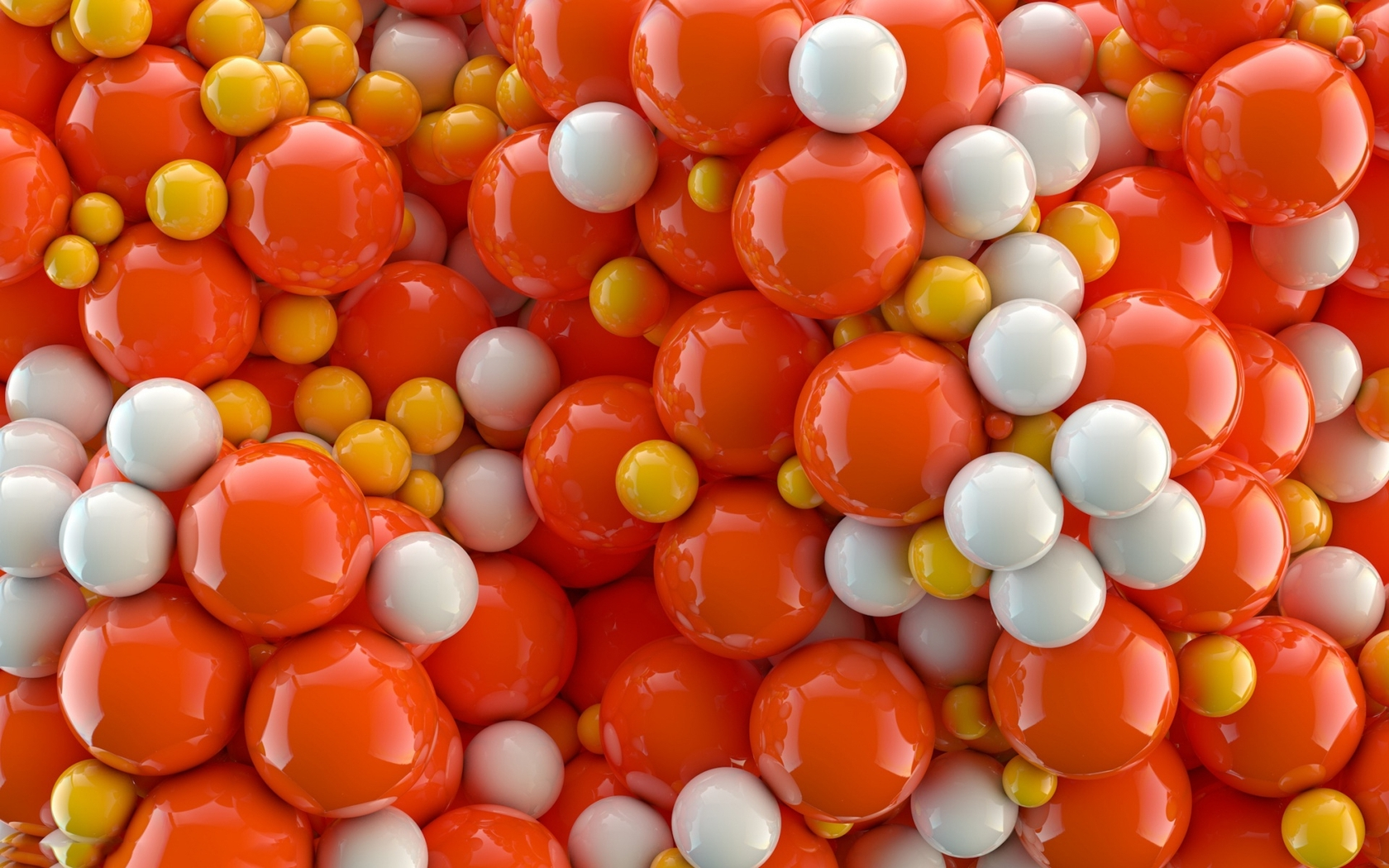 Download Orange and white balls wallpaper 1680x1050