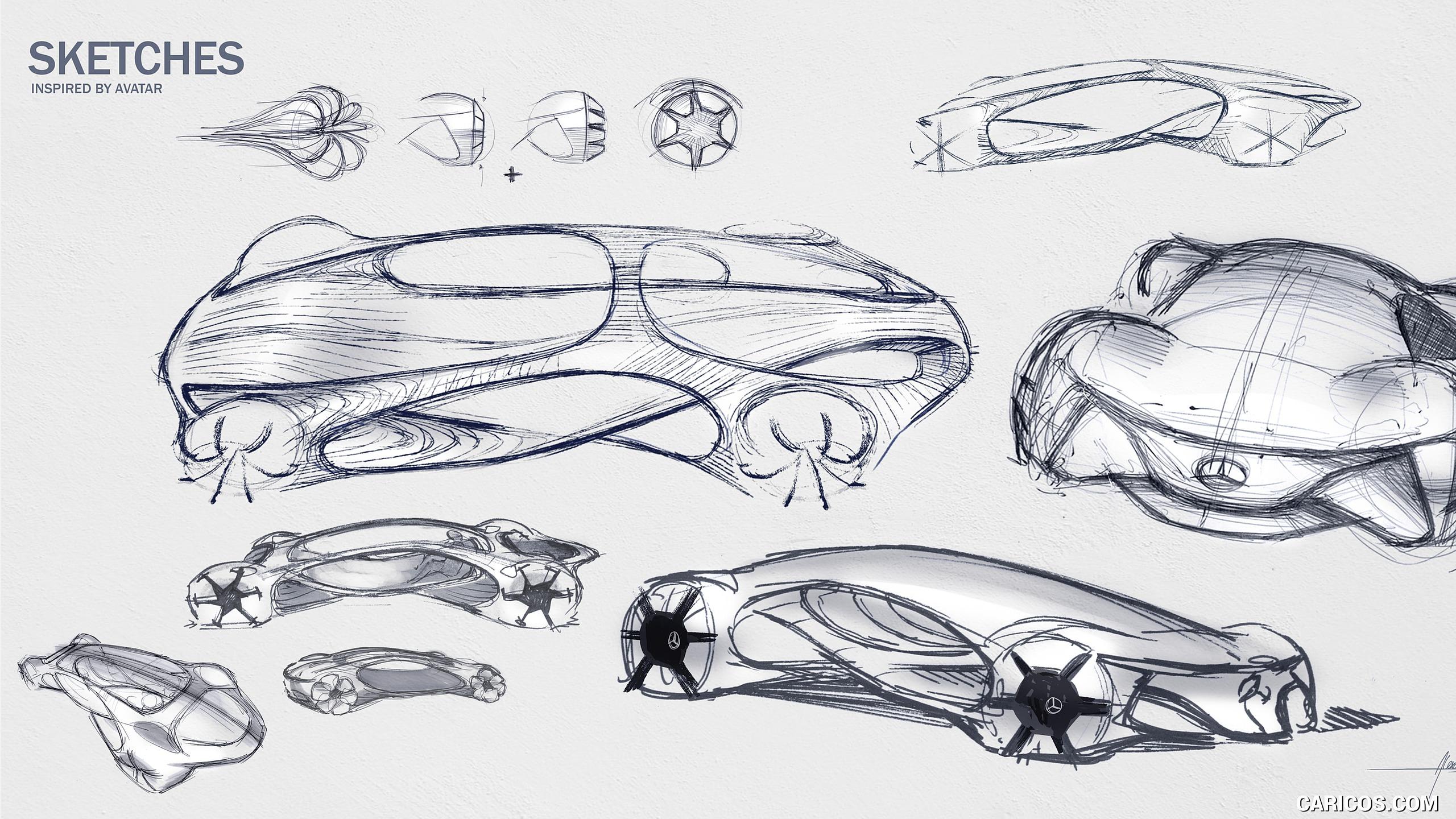 2020 Mercedes Benz VISION AVTR Concept   Design Sketch HD 2560x1440