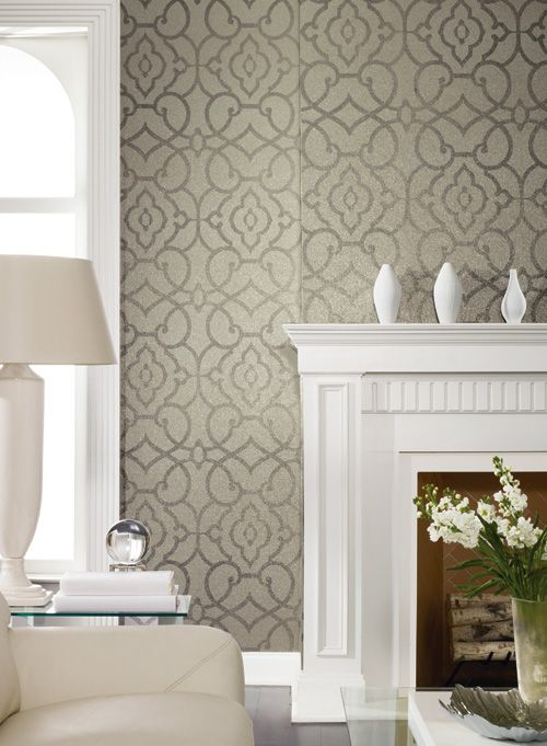 Printed mica chip wallpaper Grillwork Mica 500x681