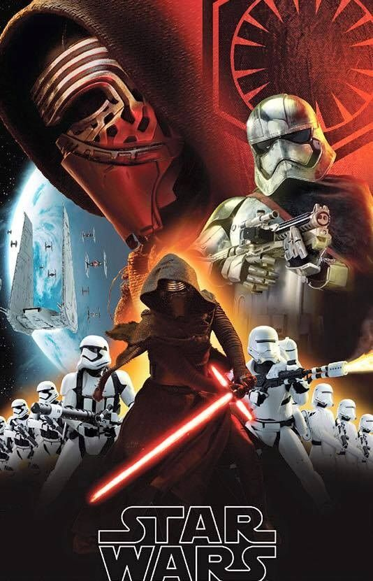 Wars The Force Awakens Promo Art Features Kylo Ren Stormtroopers 534x831