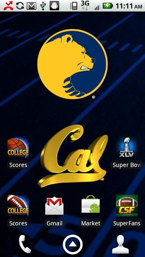 Officially licensed University of California Bears Live Wallpaper 288x512