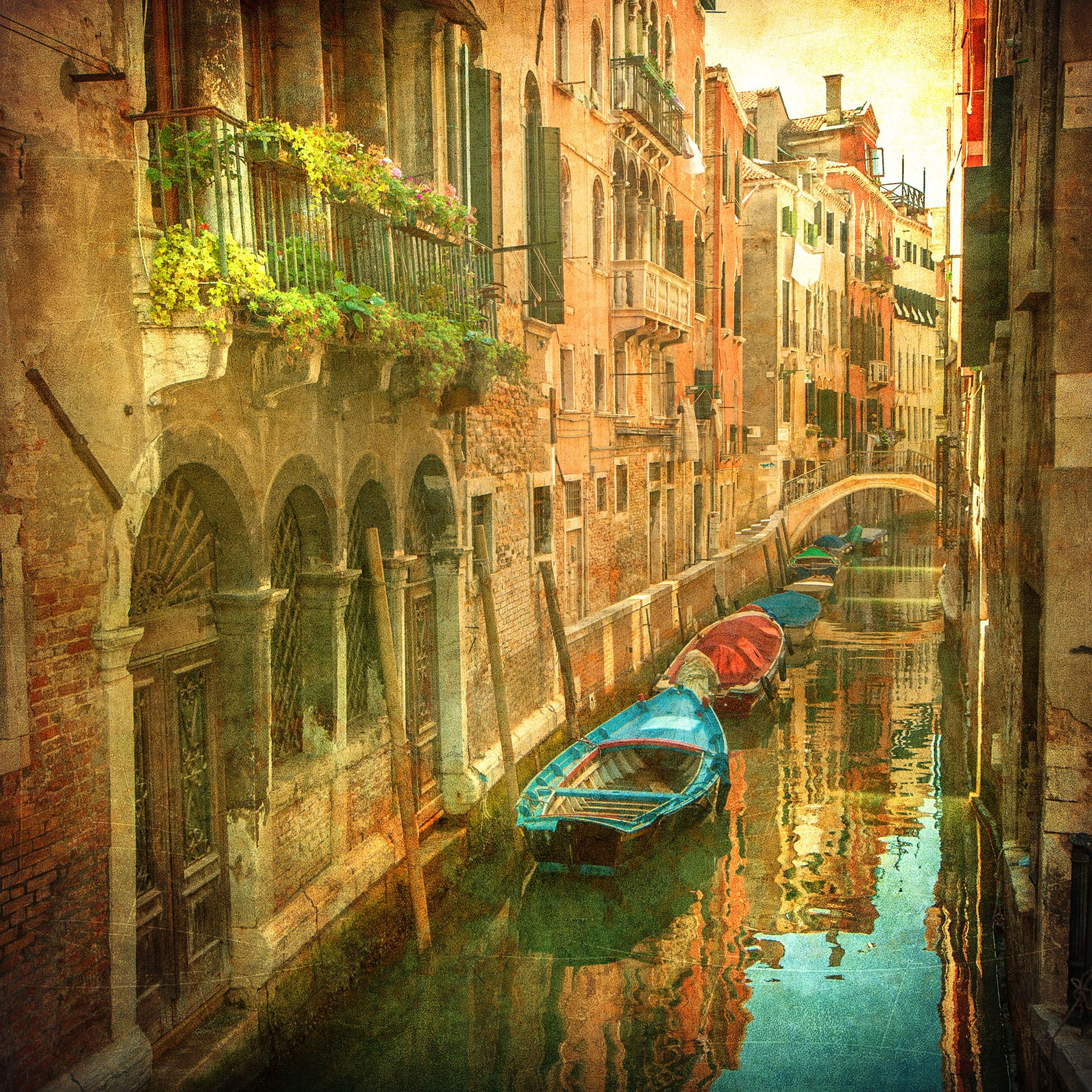 Details about Vintage Venice Canal Italy Photo Wallpaper Wall 1920x1920