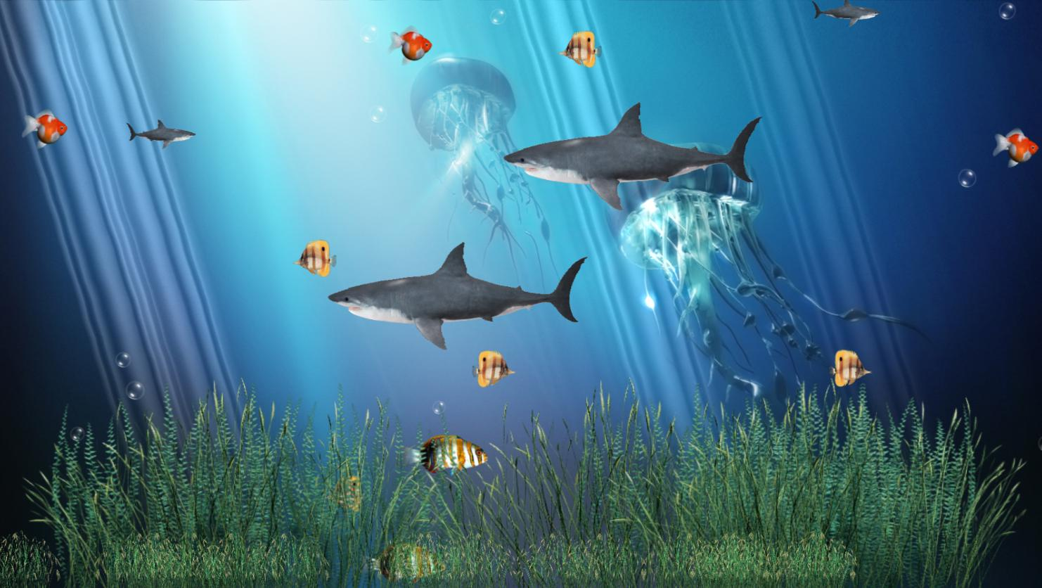 Review Downloads of Freeware Coral Reef Aquarium Animated Wallpaper 1482x836